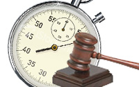 clock with gavel