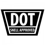 DOT helmet sticker